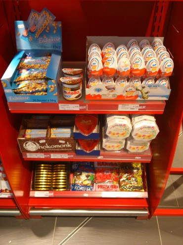 Chocolate stand in FRA